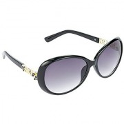 Hrinkar Grey Mirrored Over-sized Unisex Sunglasses