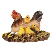 Wonderlnad Miniature fairy garden Hen and chicks(4 x 4 x 3 cm)