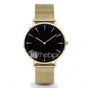 Heren Dress horloge Modieus horloge Vrijetijdshorloge Polshorloge Chinees Kwarts Metaal Band Bedeltjes minimalistische Zwart Zilver Goud