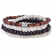 Lucleon Set de bracelets Miro en bambou & coco