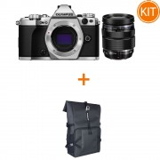 Kit Olympus OM-D E-M5 Mark II Kit cu Obiectiv 12-40mm F2.8 Argintiu / Negru + Cadou Rucsac Olympus Everyday Camera Backpack