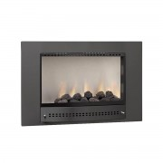 Chad-O-Chef 700 Picture Plain Fireplace black