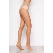 Dres dama modelator nude 20 den cu un calcai curbat si cusaturi plate