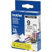 Ламинирана лента Brother TZ-121 Tape Black on Clear Laminated 9mm - Eco - TZE121