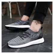 Zapatillas De Malla Transpirable Para Hombre -gris