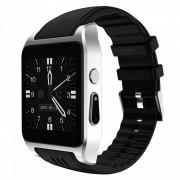 X86 Bluetooth 3G reloj inteligente Android w / Wi-Fi 4 GB - plata + negro