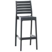 CLP Sgabello Ares, grigio scuro , grigio scuro, altezza seduta