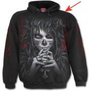 kapucnis pulóver férfi - Day Of The Goth - SPIRAL - BEA122