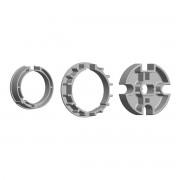 GO_MATIC Adattatori In Metallo Per Rullo Avvolgitore Con Ogiva Tonda 78 Mm