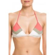 Vince Camuto Neckholder-Bikini-Oberteil, wattiert, mehrfarbig bunt