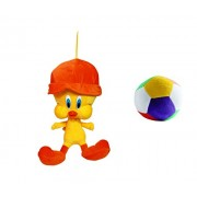JRP Mart Yellow Bird With Cap Soft Toy And Little Ball
