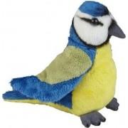 Pluche blauwe pimpelmees knuffel 15 cm - Vogel knuffels - Speelgoed voor kinderen
