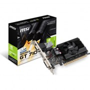 Placa video MSI Nvidia GeForce GT 710 Low Profile (GT 710 1GD3 LP) , 1 GB , DDR3 , 64 - bit