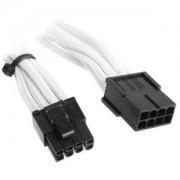 Cablu prelungitor BitFenix Alchemy 6+2-pini PCIe, 45cm, white/black, BFA-MSC-62PEG45WK-RP