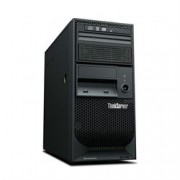 Servidor Lenovo ThinkServer TS150 Torre, Xeon E3-1225 v5, 8GB até 64GB DDR4, 1x 1TB HD SATA 7.2K até 24TB 3.5, RAID 121i,DVDRW, 8 USB 3.0 (2 front; 6 rear), 1 RJ-45 Gigabit Ethernet, 1 serial (COM); 1 VGA, 1x Fonte 250W 80 PLUS, 1 Ano On Site 70LVA002BN