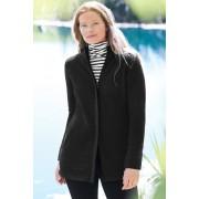 ランズエンド LANDS' END レディース・クラシックフリース・フーディ・コート(ブラック)