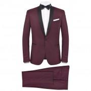 vidaXL Мъжки смокинг костюм от 2 части, 46 размер, бордо