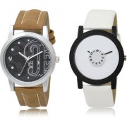 The Shopoholic Black White Combo Stylist Designer Combo Pack 2 Black And White Dial Analog Watch For Boys Mens Watches For Men