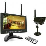 """avidsen 123410 Videosorveglianza Wireless Wifi Da Esterno Kit: Telecamera Ip Visione Notturna + Monitor Lcd 7"""" Archiviazione Su Sd Card - 123410"""