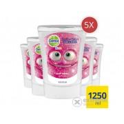 Rezerva Dettol Kids pentru dispensa no touch antibacterial cu aroma de musetel, 5x250 ml
