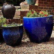 The Pot Co Glazed Clay Egg Planter Available in a Range of Sizes and Colours
