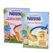 Nestle Pachet Promotional: Cereale orez cu banane 250 g + Mic dejun cu cereale si miere 250 g