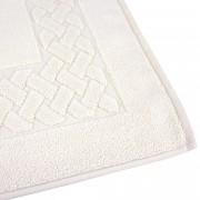 Linnea Tapis de bain 50x80 cm ROYAL CRESENT Blanc Crème 850 g/m2