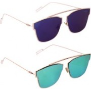 LOPEZ Rectangular Sunglasses(Green)