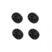Lego Parts Technic Gear - 20 Tooth Double Bevel PACK of 4 - Black