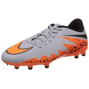 Nike Boy's Jr Hypervenom Phelon Ii Fg Wolf Grey,Total Orange,Black,Black Football Shoes - 3.5 UK/India (36 EU)(4Y US)