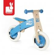 Drewniany rowerek biegowy 2 lata + - niebieski Little Bikloon, Janod J03258