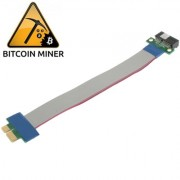 PCI Express 1X Riser Card Extender Flexible Extension Cable Ribbon Adapter Cable Length: 19cm