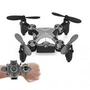 Wurenji El Juguete Plegable con Control Remoto De 4 Ejes Y 2.4G Drone con Cámara De 0.3MP WiFi FPV, Modo Sin Cabeza, Retorno con Un Solo Botón para Niños Y Niños Regalos