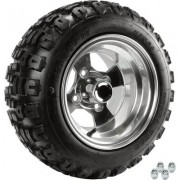 Kenda Golf Cart Aluminum Wheel and Tire Assembly - 18 x 8.50-10, Knobby Tread, Fits Yamaha Carts
