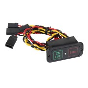 Digital Intelligent On/Off Switch for RC Car Helicopter Boat JR Connectors Switch LED Light Remote Control Accessories