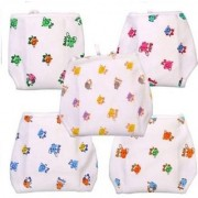 Little Monster New Born Baby Cotton Clothing Baby Nappies (Pack Of 5 Pcs.)