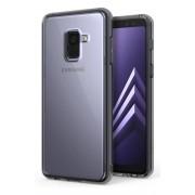 Husa Protectie Spate Ringke Smoke Black plus folie protectie display pentru Samsung Galaxy A8 2018