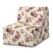 Dekoria Pokrowiec na fotel Lycksele prosty, różowo-beżowe róże na kremowym tle, fotel Lycksele, Mirella