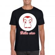 Bellatio Decorations Zwart Salvador Dali t-shirt voor heren