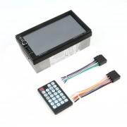 ER Bluetooth Universal 2 DIN De 7 Pulgadas De Pantalla Táctil Entrada Aux De DVD Del Coche Reproductor De MP5/FM -Negro