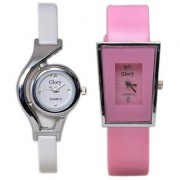 Best High Quality Style Glory Combo of 2 Analog Casual Wear Wrist Watches For Women / Girl