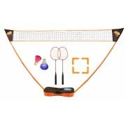 Get & Go Badminton Spel Set Opzetbaar oranje/Antraciet