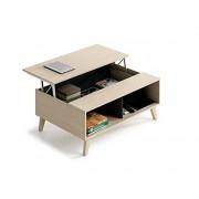 Arredo Interno Tavolino 100x68 cm Rovere chiaro con parte superiore alzabile