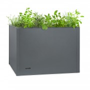 Blumfeldt Highgrow Deluxe, леха за цветя 100x76x100cm, поцинкована стомана, сиво (GDW34-HighgrowDeluxe)