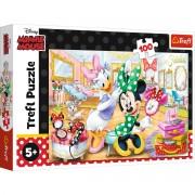 Puzzle Trefl 100 piese - Minnie la salonul de infrumusetare