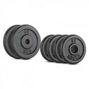 IPB 15 kg Conjunto de Placas de Peso 4 x 1,25 kg + 2 x 5 kg 30 mm
