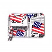 Bandera De Estados Unidos POFOKO Patrón 13.3 Pulgadas Cremallera De La Manera Ropa De La Caja Impermeable De La Manga Del Cuaderno Del Ordenador Portátil , Con Una Pequeña Bolsa Para El Ratón