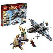Lego Year 2012 Marvel Super Heroes Series Battle Scene Set #6869 - QUINJET AERIAL BATTLE with Quinjet Loki's Chariot Plus 5 Minifigures: Thor Iron Man Black Widow Loki and Foot Soldier (Total Pieces: 735)