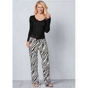 Wooby Plush Pants Pajamas - White/black