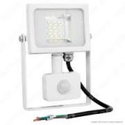 LED reflektor , 10 Watt , Ultra Slim , SMD , mozgásérzékelős , természetes fehér , fehér ház